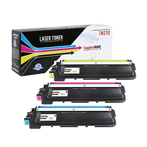 Brother TN210 Toner Cartridge Compatible Color Value Bundle (1 Cyan 1 Magenta 1 Yellow) for Brother HL 3070CW, Brother MFC?9340CDW, Brother, MFC-9010CN