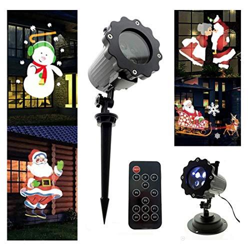 Luci per proiettori a LED, luci per proiettori natalizi con proiettore a spotlight impermeabile a 4 LED per feste natalizie. Festa di compleanno di Halloween