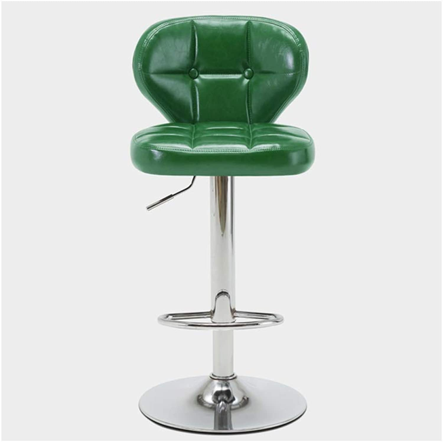 A+ Front Stool Home Lift redary Dining Chair Tough Metal Material High Elastic Sponge Filled Ergonomic Design 5 color 38.5cm60-80cm (color   Green)