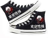 ADIS Tokyo Ghoul - Zapatos de cosplay para mujer, estilo casual, con cordones, zapatos de plataforma baja-D_2UK