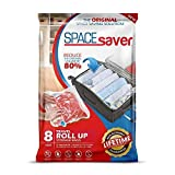 Spacesaver Premium Travel Roll Up Compression Storage Bags for Suitcases -No Pump or Vacuum Needed - Perfect for traveling! (Travel 8 Pack)