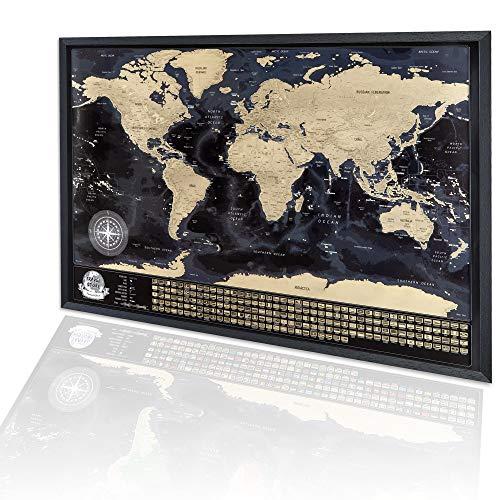 Mapa del mundo con enmarcado