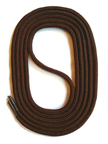 SNORS - Schnürsenkel - RUNDSENKEL Dunkelbraun 90cm, ca. 3mm, integr. Zugstabilisierung