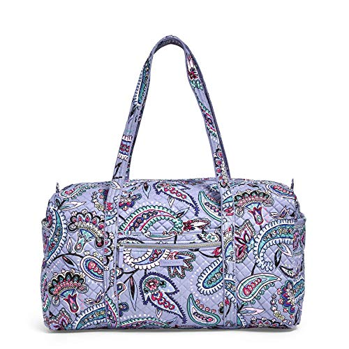 Vera Bradley Women's Signature Cotton Large Travel Duffel Bag, Makani Paisley, One Size Alabama