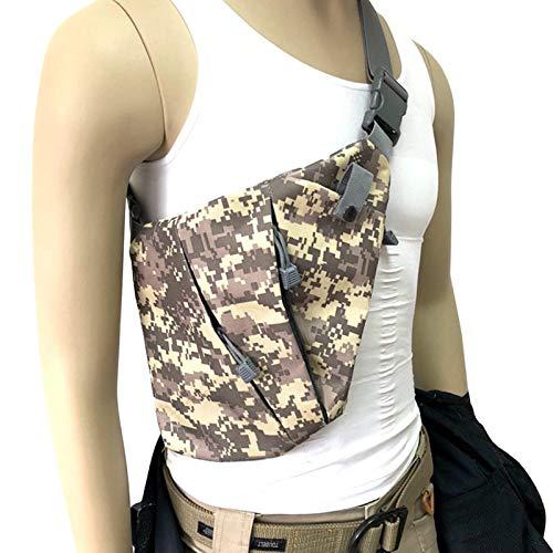 Lixada Men's Crossbody Bag Storage Bag Waterproof Left Right Shoulder Backpack Chest Bag Messenger Bag Cycling Hiking