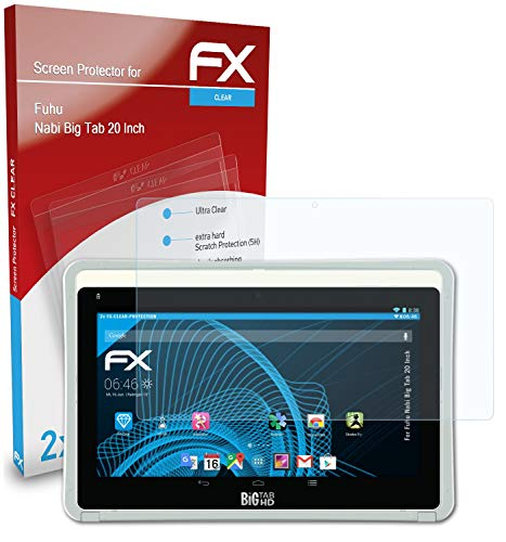 atFoliX Screen Protection Film compatible with Fuhu Nabi Big Tab 20 Inch Screen Protector, ultra-clear FX Protective Film (2X)