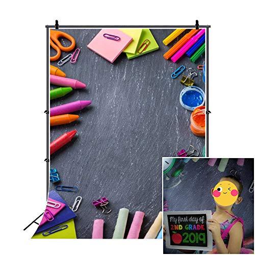 CSFOTO 4x6ft Back to School Backdrop School Classsroom Photography Background Online Course Decor Classroom Decor Blackboard Crayons Student Child Portrait Photo Studio Props