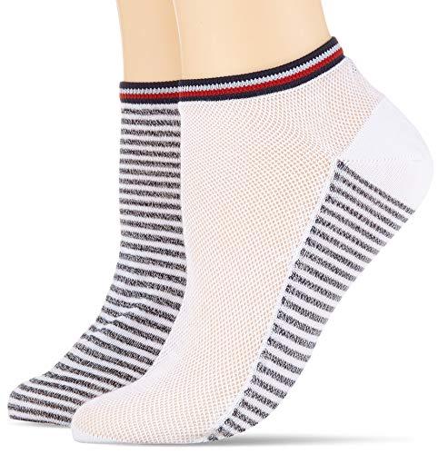 Tommy Hilfiger Damen TH WOMEN RESORT 2P Matt Fein Socken, Mehrfarbig (white 300), 35/38 ( Herstellergröße:035) (2er Pack)