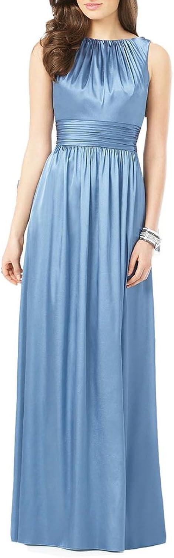 Emmani Women's Sheath Sleeveless Floor Length Bridesmaids Prom Dresses