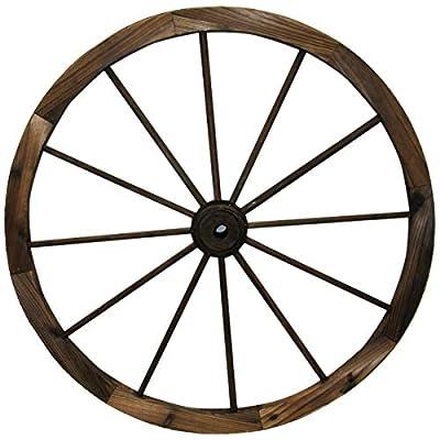 "Leigh Country TX 93953 36"" Wagon Wheel, 36 Inches, Walnut Finish"