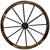 Leigh Country TX 93953 36' Wagon Wheel, 36 Inches, Walnut Finish
