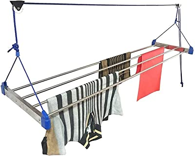 Plantex High Grade Cloth Drying Rack/Ceiling Cloth Rack/Cloth Stands for Drying Clothes(7 feet / 6 Pipe)