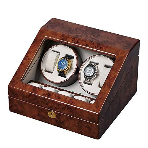 ChenTeShangMao Uhrenbeweger 4 + 5 Uhr High-End-Klavier Malt Automatische Uhrenbeweger, Leise Drehenden Motor, Anti-Magnetisierung, 32,7 * 29,5 * 20cm Für Dame und Mann Uhren