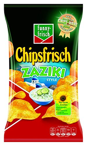 funny-frisch Chipsfrisch Chipswahl-Sieger Zaziki Style, 10er Pack (10 x 175 g)