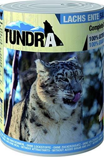 Tundra Katzenfutter Lachs & Ente, Nassfutter - getreidefrei (6 x 400g)