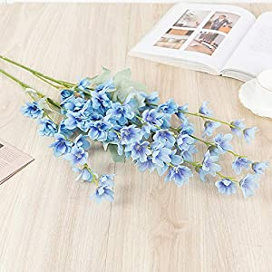 Artificial Plants Plastic Rustic Bouquet Tabletop Flower Bouquet 2 Delphinium Grandiflorum
