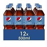 Pepsi Refresco De Cola, Botella, 12 x 500 ml