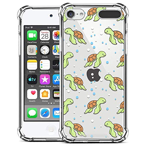 ZIYE Compatible with iPod Touch 7th Generation Case,iPod Touch 6 5 Case Clear,Shockproof Protective Case for iPod Touch 5/iPod Touch 6/iPod Touch 7 Case Turtle