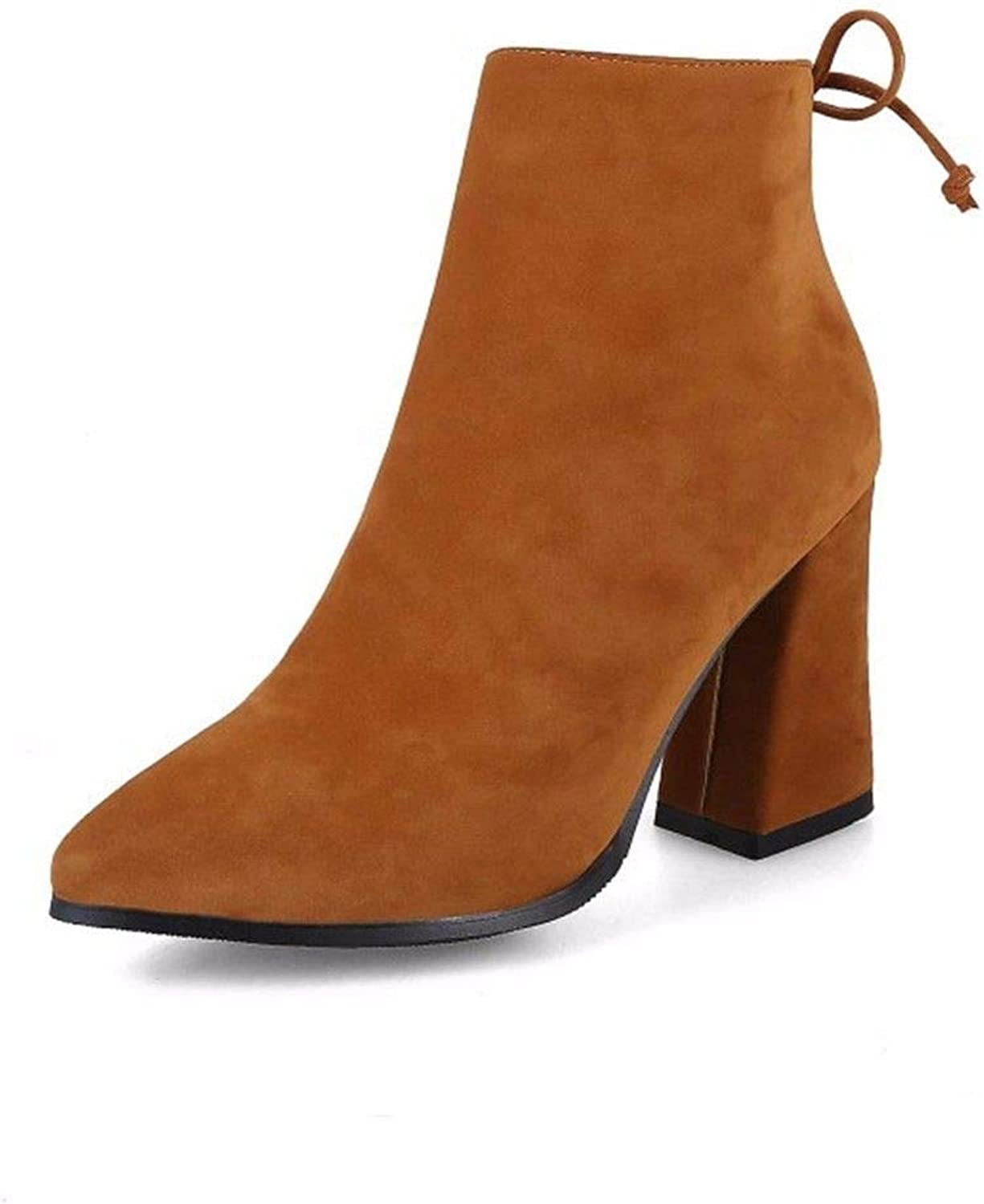 Winter and Winter Boots, Suede, Pointed Heels, Big Heels, Ladies' Big Martin Boots
