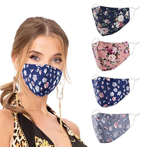 Fashion Cotton Face Mask Reusable for Women Men, Cubre Bocas Tapa paramascarillas de Tela para la con diseo, Washable Breathable Designer Cloth Fabric Madks, Adult Earloop Mouth Nose Cover