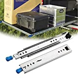LMDX 1Paar Schwerlastauszüge 1200 Mm Schiene Schublade丨Teleskopschienen Für Schreibtische丨Auszugschienen Mit Lock-in/Out Einrastfunktion丨Kugelführung Vollauszug