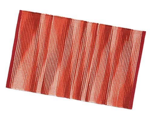 Tappeto Bagno Cucina Camera 100% Cotone Multiuso Assorbente Indiano Lavabile Lavatrice MOD.Tabasco 55x240 Rosso