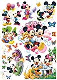 Enfants Stickers MURAUX Grand Disney Mickey Mouse Minnie Autocollants Filles Chambre...