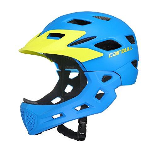 Meiyiu Casco Cubierto para niños Casco para Montar en Bicicleta Niños Patinaje Deporte Guardia de Seguridad Casco para Bicicleta Azul S-M (50-57CM)