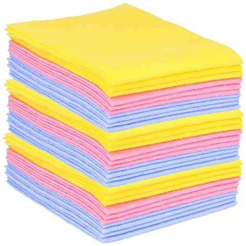 com-four® Toallas domésticas 30x, para Todo Uso Extremadamente absorbentes y duraderas, Reutilizables (Set 1 - Paños de Limpieza 30 Piezas)