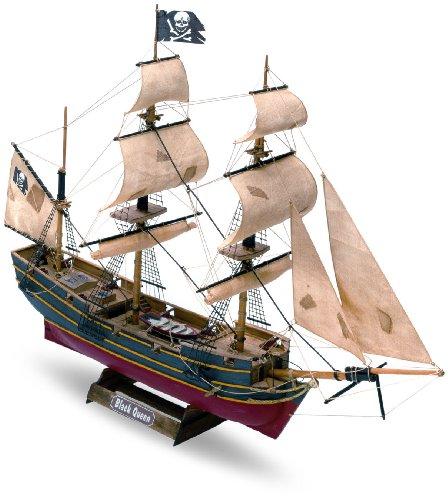 木製帆船模型 マモリミニ MM60 ブラッククィーン(海賊船)