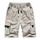 GUOYUXIAO Summer Shorts Men Casual Beach Shorts Men's Fashion Camo Print Cargo Shorts Male Pants LightKhaki 5XL
