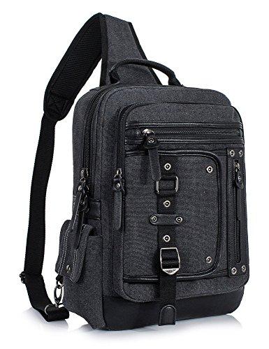 Leaper Messenger Bag Sling Bag Outdoor Cross Body Bag Shoulder Bag Black