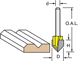 Plunge Cutting 1//2 Shank 5-pack Router Bits Woodtek 818858 Straight 5//8 Carbide Tipped Straight Bit