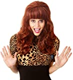 80s Married Housewife Big Red Wig 80s Costumes for Women Children Wife Big Bouffant Hair Beehive Wigs Fits Adults & Kids