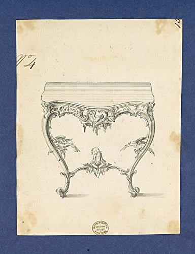 The Poster Corp Thomas Chippendale – Sideboard Table in Chippendale Drawings Vol. I Kunstdruck (45,72 x 60,96 cm)