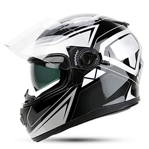 ZCRFY Casco Moto Modular Modulares Casco Integral Motocicleta ABS Seguro Proteger Peso...