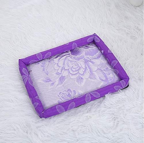 XXCLZ Matte für Hunde, waschbar, für den Sommer, für Haustiere, mit Eis S: 37*28*7cm violett