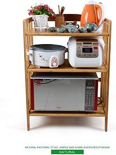 Support de four à micro-ondes Four à bois Four à micro-ondes Étagère de rangement à 3 niveaux Étagères de cuisine Étagères...