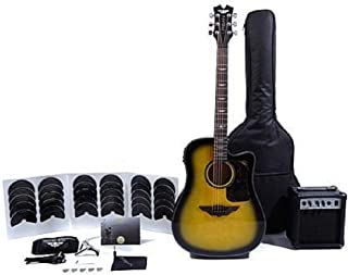 Keith Urban Acoustic-Electric Ripcord 40-piece Guitar Package - Brazilian Burst