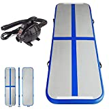 Inflatable Air Track Mat Tumbling Floor Home Gymnastics Mat + Electric Pump