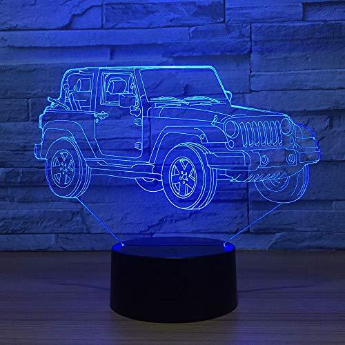 Lampada da tavolo LED Vision creativa Luce notturna a risparmio energetico USB Luce visiva 3D ns Luce notturna