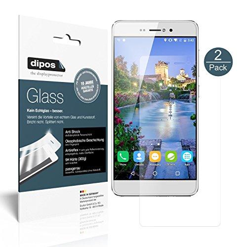 dipos I 2X Protector de Pantalla Mate Compatible con BLUBOO Picasso 5 Pulgada Vidrio Flexible Cristal Proteccion 9H