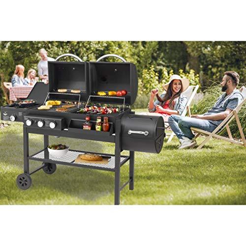 Fuego Kombigrill Gasgrill und Holzkohlegrill Sierra von EL Grill Smoker BBQ