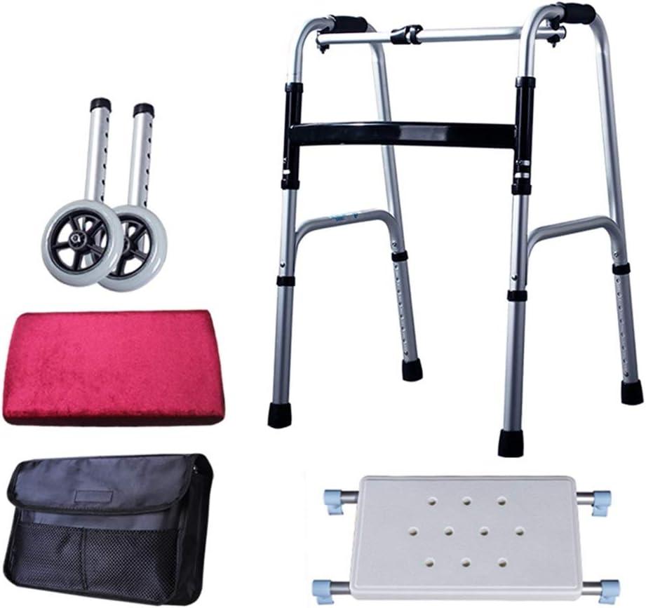 ZAQI Seniors Lightweight Cheap super special price Walkers Heavy Aluminum Wa Duty 5 ☆ very popular Rolling