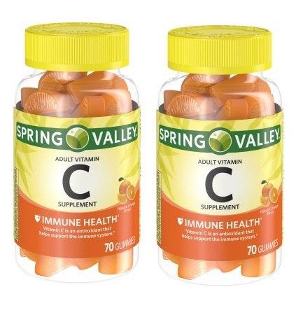 Spring Valley - Gummie Vitamin C 240 mg, 70 Orange Gummies (Pack of 2)