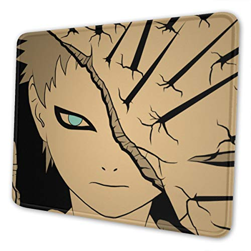 Naruto Gaara - Alfombrilla de ratón para ordenador portátil, bordes cosidos para oficina, 8,3 x 10,3 pulgadas