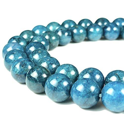 [ABCgems] Brazilian Blue Apatite Tiny 4mm Smooth Round Beads
