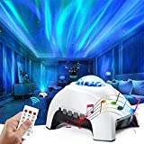 Aurora Projector & White Noise Night Light,Northern Lights Star Projector with Bluetooth Speaker & Remote,Galaxy Light Projector for Baby Kids Adults,for Bedroom,Ceiling,Mood Ambiance