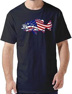 ZYXcustom American Flag Fish DIY Slime T-Shirt