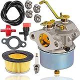 632230 Carburetor+Spark Plug +30727 Air Filter for Tecumseh 631828 632272 631067 631067A 632076 H30 H50 H60 HH60 HH70 Engines Snowblower Troy Bilt Sears Tillers with Fuel Shut Off Valve -  Fyange